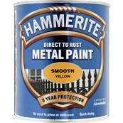 Paint Eq - Hammerite - Smooth - Yellow - 750ml