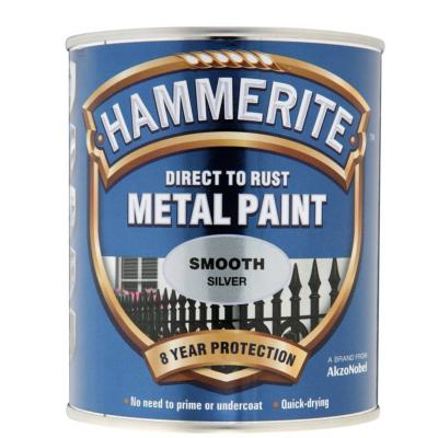 Paint Eq - Hammerite - Smooth - Silver - 750ml