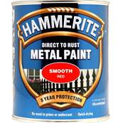 Paint Eq - Hammerite - Smooth - Red - 750ml