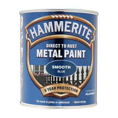 Paint Eq - Hammerite - Smooth - Blue - 750ml
