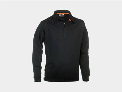 HEROCK - POLO LONG SLEEVE - TROJA - BLACK - ALL SIZE