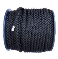 CA0900X16002 - ROPE 3-STR POLYES 16MM BLACK ELEFANTE - 0900.20016